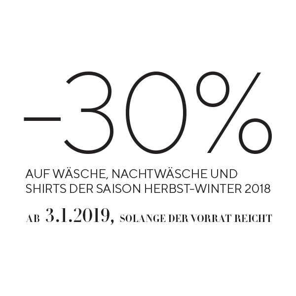 30% HERBST/WINTER 2018