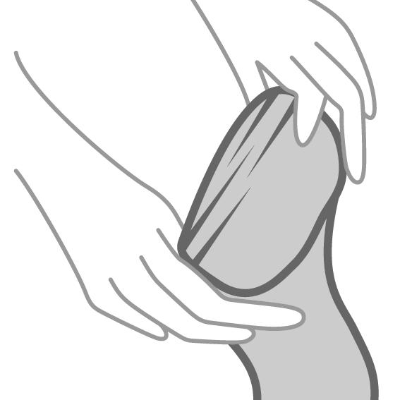 Das richtige Anziehen von Strümpfen - 1. SCHRITT