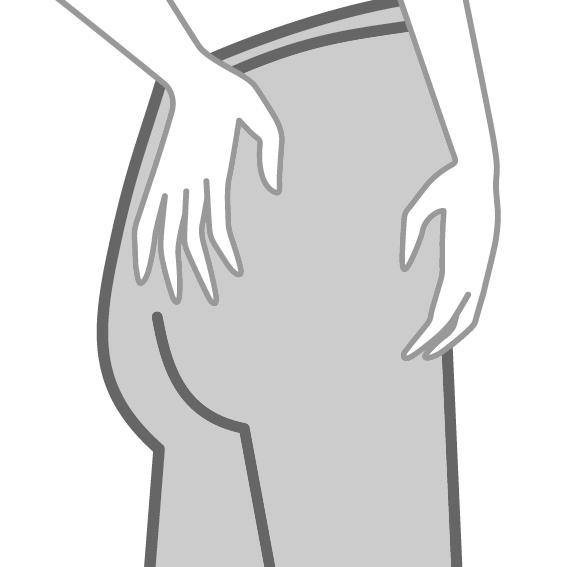 Das richtige Anziehen von Strümpfen - 5. SCHRITT